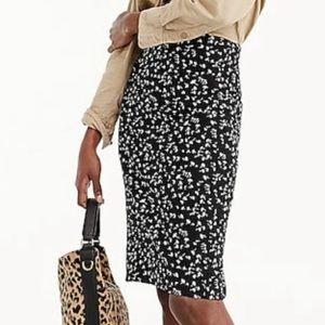 J Crew pencil skirt Daisy Floral print